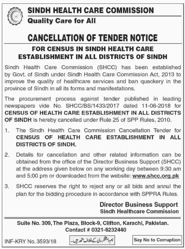 Sindh Health Care Commission (SHCC) | Request For Proposal